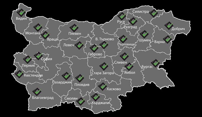 Карта с покритие на Райт Клийнинг